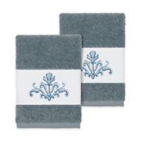 Linum Home Textiles Scarlet Crest Washcloths in Teal (Set of 2)