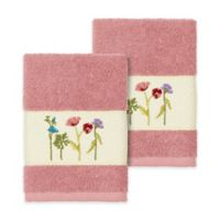 Linum Home Textiles Serenity Wildflower Washcloths in Tea Rose (Set of 2)