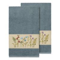 Linum Home Textiles Serenity Wildflower Bath Towels in Teal (Set of 2)