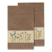 Linum Home Textiles Serenity Wildflower Bath Towels in Latte (Set of 2)