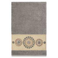 Linum Home Textiles Isabella Bath Towel in Dark Grey