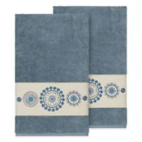 Linum Home Textiles Isabella Bath Towels in Teal (Set of 2)