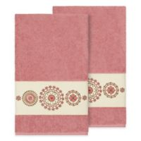 Linum Home Textiles Isabella Bath Towels in Tea Rose (Set of 2)
