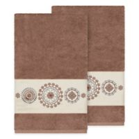 Linum Home Textiles Isabella Bath Towels in Latte (Set of 2)
