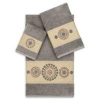 Linum Home Textiles Isabella 3-Piece Bath Towel Set in Dark Grey
