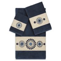 Linum Home Textiles Isabella 3-Piece Bath Towel Set in Midnight Blue