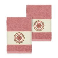 Linum Home Textiles Isabella Washcloths in Tea Rose (Set of 2)