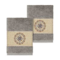 Linum Home Textiles Isabella Washcloths in Dark Grey (Set of 2)