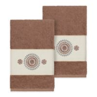 Linum Home Textiles Isabella Hand Towels in Latte (Set of 2)