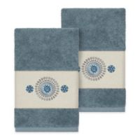 Linum Home Textiles Isabella Hand Towels in Teal (Set of 2)