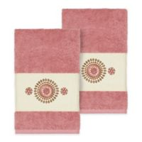 Linum Home Textiles Isabella Hand Towels in Tea Rose (Set of 2)