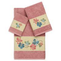 Linum Home Textiles Caroline 3-Piece Bath Towel Set in Tea Rose