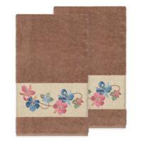 Linum Home Textiles Caroline Bath Towel in Latte (Set of 2)