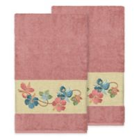 Linum Home Textiles Caroline Bath Towel in Tea Rose (Set of 2)