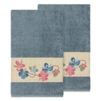 Linum Home Textiles Caroline Bath Towel in Teal (Set of 2)