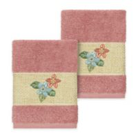 Linum Home Textiles Caroline Washcloth in Tea Rose (Set of 2)
