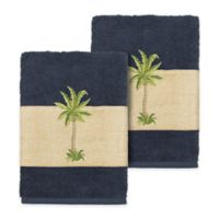 Linum Home Textiles Colton Washcloths in Midnight Blue (Set of 2)
