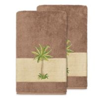 Linum Home Textiles Colton Bath Towels in Latte (Set of 2)