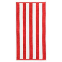 Great Bay Home Cabana Beach Towels in Red (Set of 2)