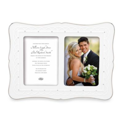 Lenox® Bliss Double 5 Inch X 7 Inch Invitation Frame