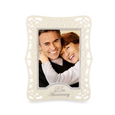 lenox 25th anniversary 5 inch x 7 inch picture frame