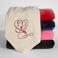 Couple in Love Fleece Throw Blanket