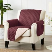 Great Bay Home Kaylee Reversible Quilted Chair Protector in Red