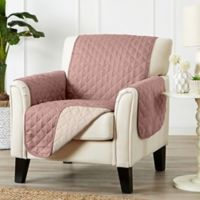 Great Bay Home Kaylee Reversible Quilted Chair Protector in Rose