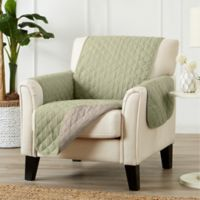 Great Bay Home Kaylee Reversible Quilted Chair Protector in Green