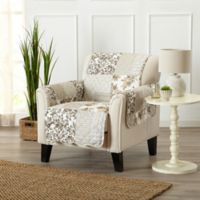 Great Bay Home Patchwork Chair Protector in Taupe