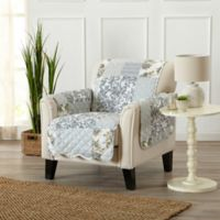 Great Bay Home Patchwork Chair Protector in Grey