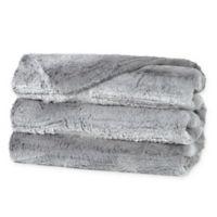 Sunbeam® Luxury Faux Fur Heated Throw Blanket in Grey