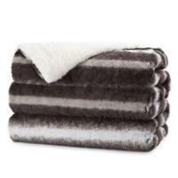 Sunbeam® Luxury Faux Fur Heated Throw Blanket in Brown