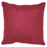 Jasper Square Throw Pillow in Burgundy