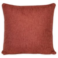 Jasper Square Throw Pillow in Rust