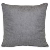 Jasper Square Throw Pillow in Silver