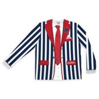 University of Mississippi Men's Medium Striped Faux Suit Long Sleeve T-Shirt