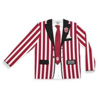 Indiana University Men's Large Striped Faux Suit Long Sleeve T-Shirt