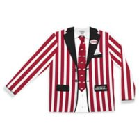 University of Arkansas Men's Medium Striped Faux Suit Long Sleeve T-Shirt
