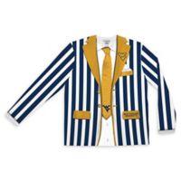 West Virginia University Men's Medium Striped Faux Suit Long Sleeve T-Shirt