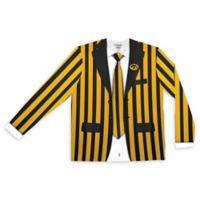 University of Iowa Men's Medium Striped Faux Suit Long Sleeve T-Shirt