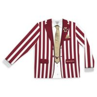 Boston College Men's Large Striped Faux Suit Long Sleeve T-Shirt