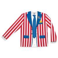 University of Kansas Men's Medium Striped Faux Suit Long Sleeve T-Shirt