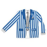 Seton Hall University Men's Large Striped Faux Suit Long Sleeve T-Shirt