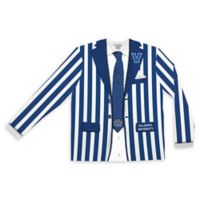 Villanova University Men's Large Striped Faux Suit Long Sleeve T-Shirt