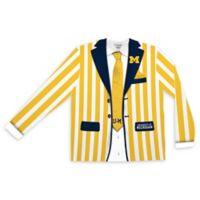 University of Michigan Men's Medium Striped Faux Suit Long Sleeve T-Shirt
