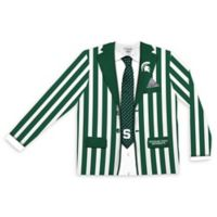 Michigan State University Men's Small Striped Faux Suit Long Sleeve T-Shirt