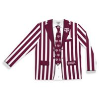 Texas A&M University Men's Extra Large Striped Faux Suit Long Sleeve T-Shirt