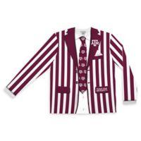 Texas A&M University Men's Medium Striped Faux Suit Long Sleeve T-Shirt