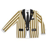 Wake Forest University Men's Large Striped Faux Suit Long Sleeve T-Shirt